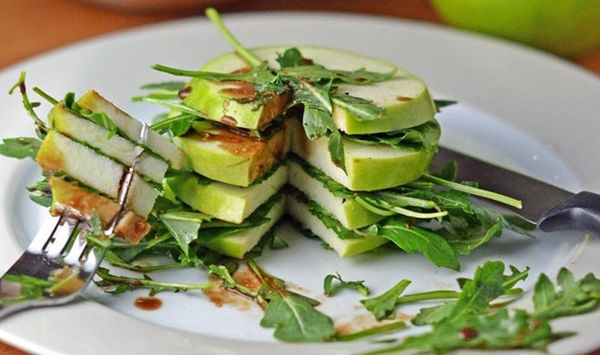 Going Green: Granny Smith and Arugula Stack Salad