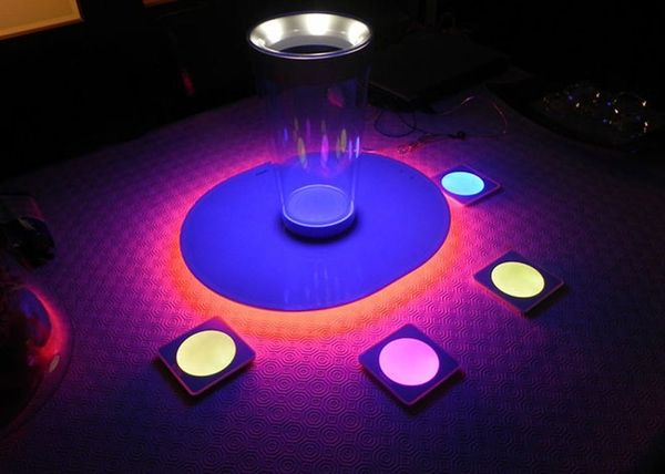 Light Up Your Drinks with These LED Coasters