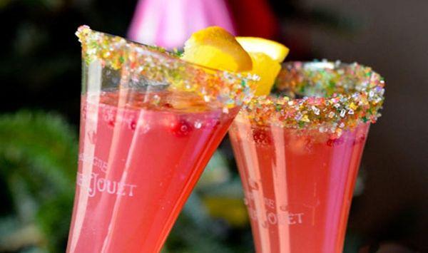 Cheers to Our Sparkling Orange Pom Fizz!