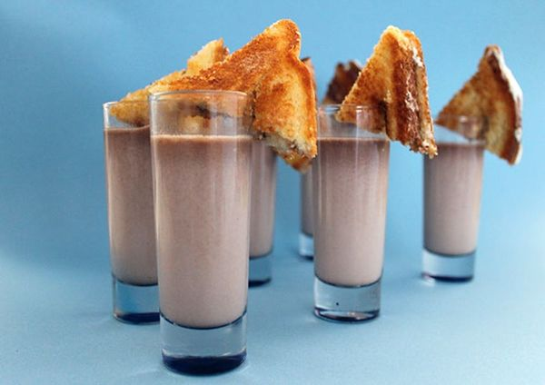 S'mores Lovers Rejoice! Nutella Hot Chocolate + Marshmallow Sandwiches
