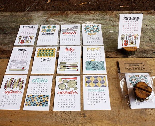 30 Cool, Creative + Quirky Calendars for 2013