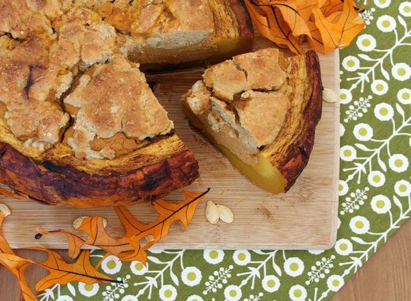 Pumpkin Pie Cobbler… in a Pumpkin!