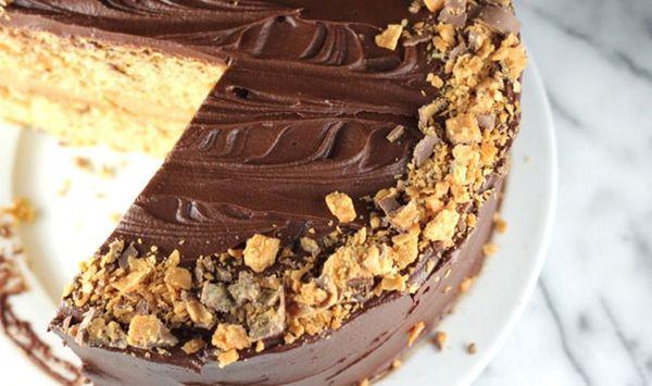 What's Better Than Homemade Butterfinger? Butterfinger Cake!