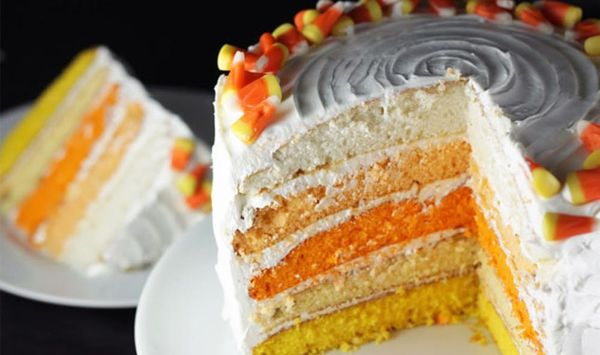 Spooky Sweets: Ombre Candy Corn Cake