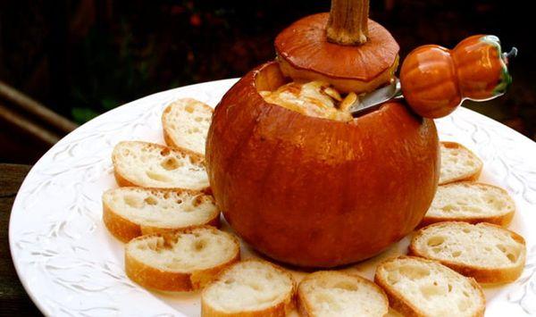 Pumpkin Fondue…Baked in a Pumpkin!