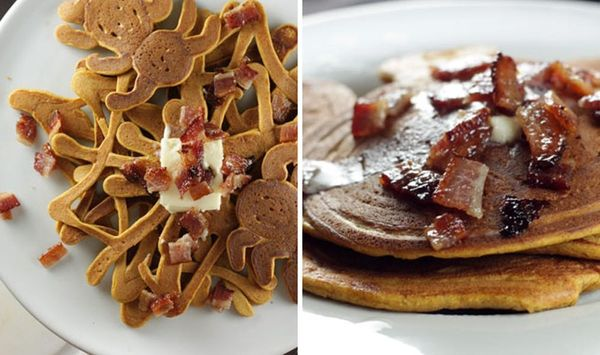 You're Going to Flip Over Our Pumpkin Bacon Pancakes Recipe