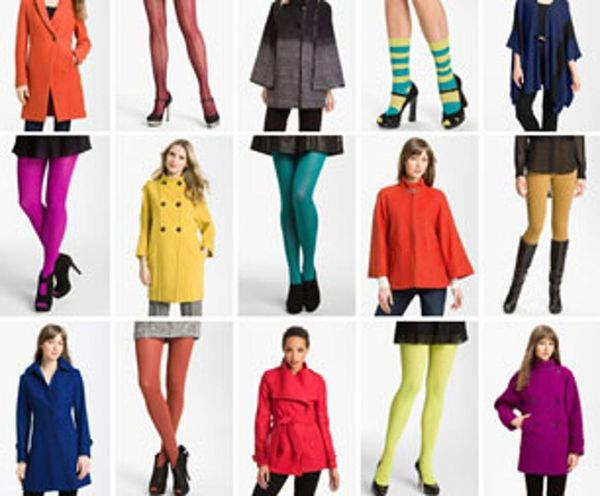 Fall Style Prep: Colorful Coats & Bright Tights