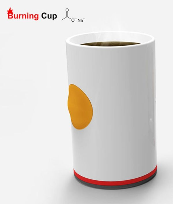 This Cup Keeps Your Coffee Hot with the Push of a Button