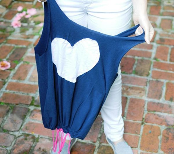 Turn Your T-Shirts Into Tote Bags