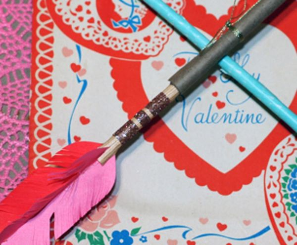 Make Your Own Cupid's Arrow Using Paper, Tape, and a Straw