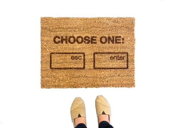 Show Your Humor With This Geeky Welcome Mat