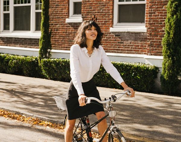 This Genius Hack Solves the (Flashing) Problem of Biking in Skirts