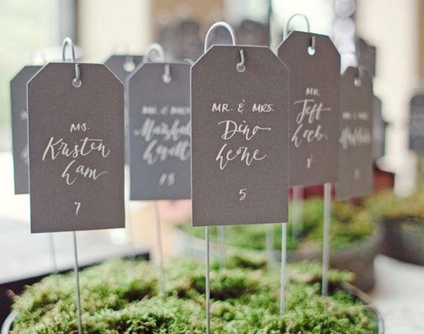 10 Awesome Wedding Escort Card Ideas
