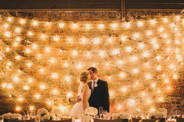 17 De-LIGHT-ful Ways to Use Lights as Wedding Decor