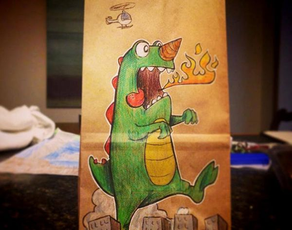 This Dad Drew on His Son's Lunches Every Day for 2 Years
