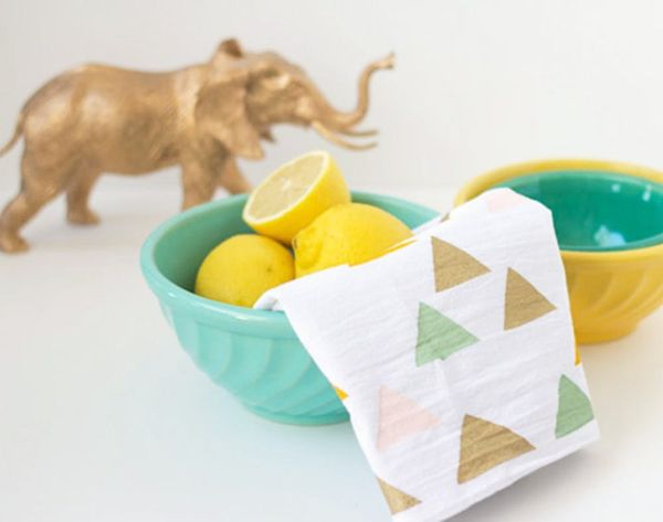 17 DIY Tea Towels to Up Your Kitchen's Style Game