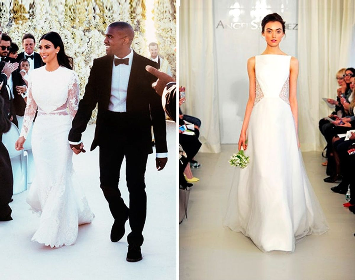 20 Wedding Dresses Inspired by Kim's Givenchy Gown   Brit + Co