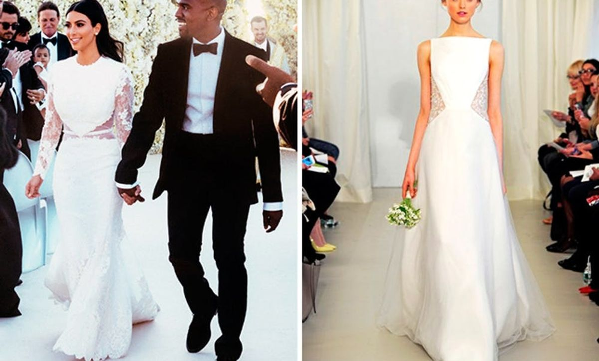 10 Wedding Dresses Inspired By Kim S Givenchy Gown Brit Co