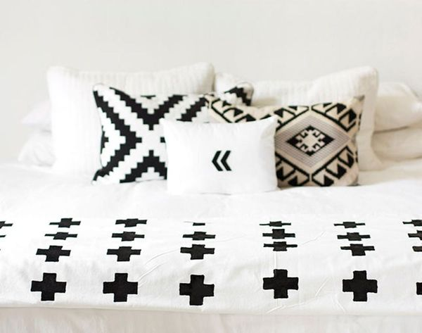 DIY This Chic Plus Sign Throw Blanket for Just $20