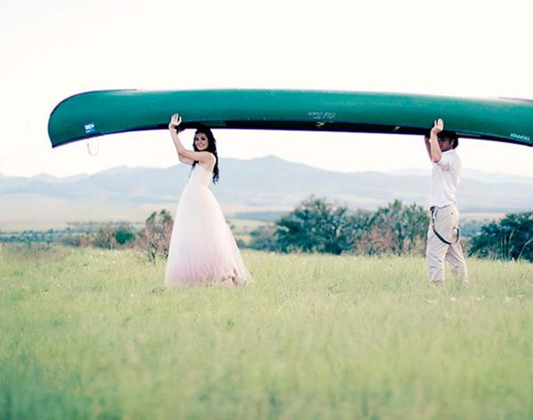 Beyond White: 15 Ombre Wedding Gowns