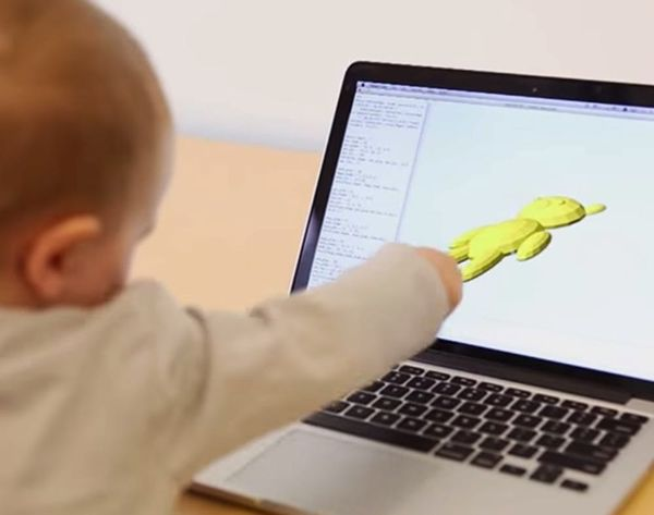 Watch, OMG + Aww Over This Baby Printing Out a 3D Teddy Bear