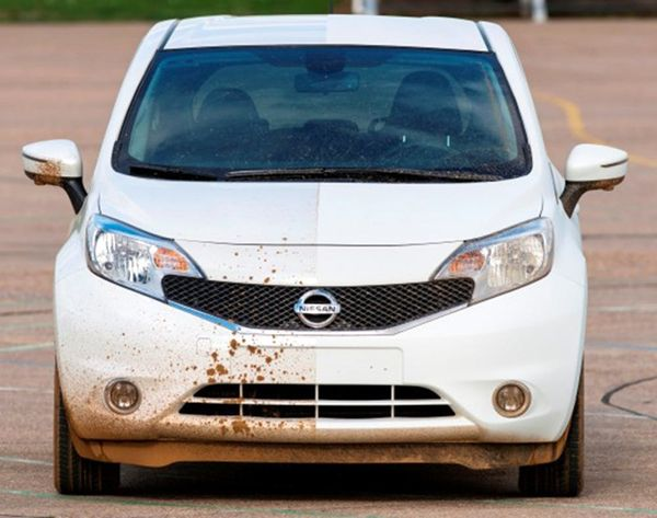 Watch the First Ever Self-Cleaning Car Roll Through Mud Dirt-Free