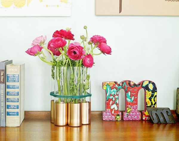 DIY Basics 2.0: Gold-Dipped Bud Vases