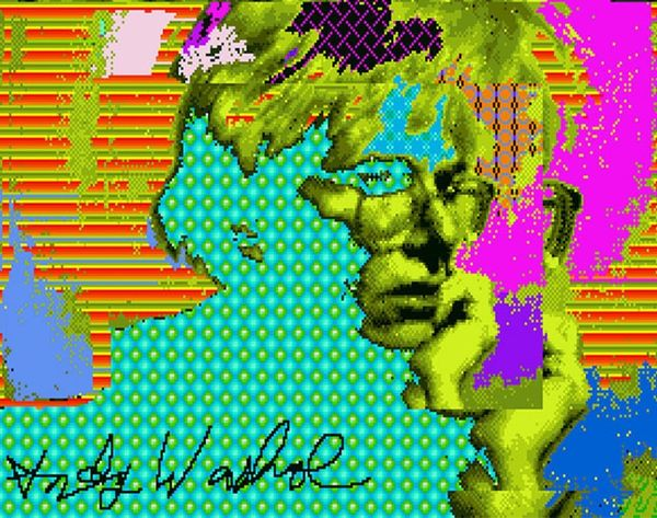 Whoa. 18 Never-Before-Seen Andy Warhol Works Discovered on FLOPPY DISKS!