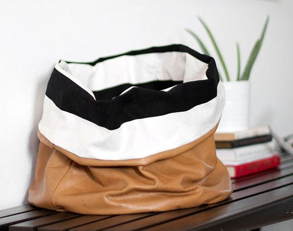 Spring Cleaning Just Got Cute With DIY Slouchy Storage Bins
