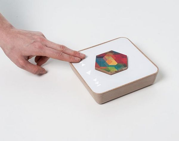Store and Play Your Digital Library on Wooden Hexagons