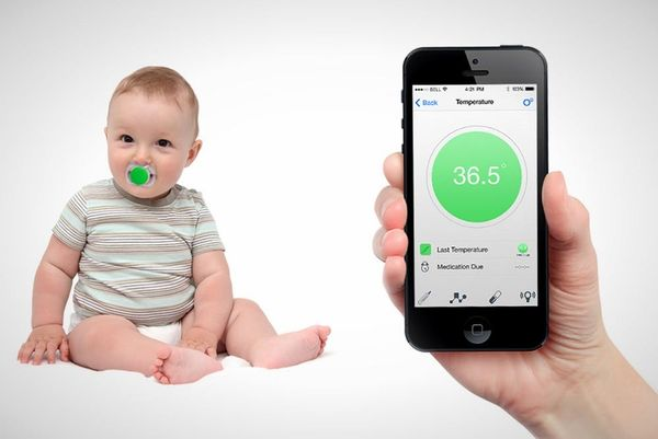Genius: This Pacifier Connects to Your Phone to Tell Baby's Temperature