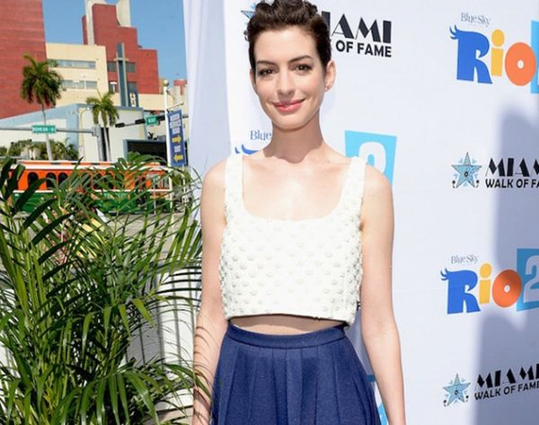 Thanks to Anne Hathaway, We're All About THIS Spring Style Combo