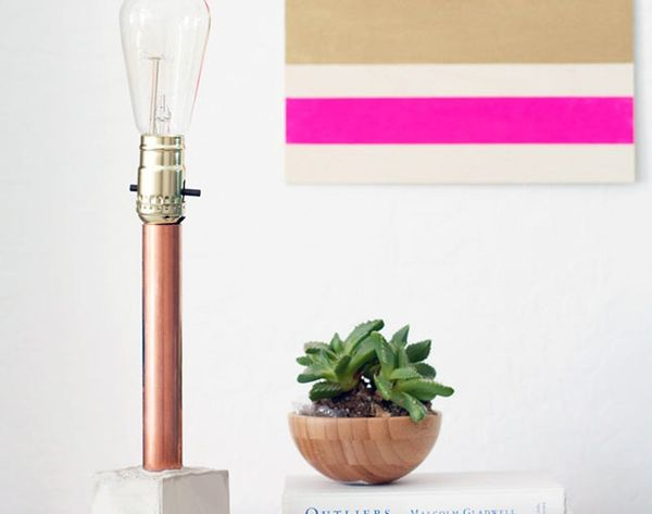 Let There Be Light: 2 Ways to Make a Copper + Concrete Lamp