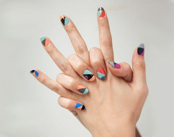 A Dozen Ways to Wear Color Block… On Your Nails!