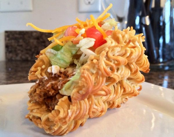 Drumroll, Please: It's The World's First Ramen Taco! Want a Bite?