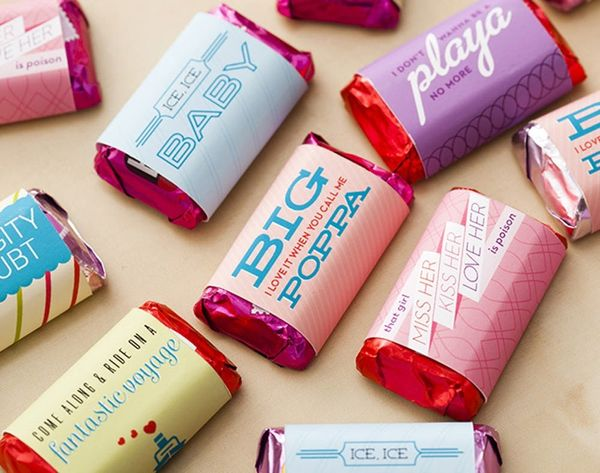 Wrapper's Delight: Cover Mini Chocolates with These '90s Chart Toppers (Free Printable!)