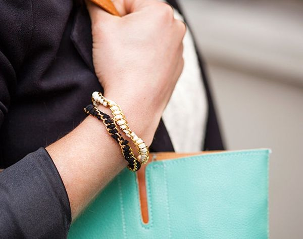 How to Make Chic Suede Chain Stacking Bracelets