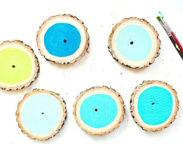 Branch Out: Turn a Log into Cute Ombre Coasters