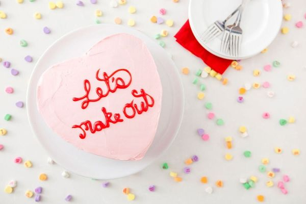 Let's Make Out! Or Just Make Our Conversation Heart Cake ;)
