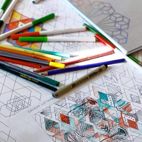 These New Adult Coloring Books Want to Help You Beat Stress
