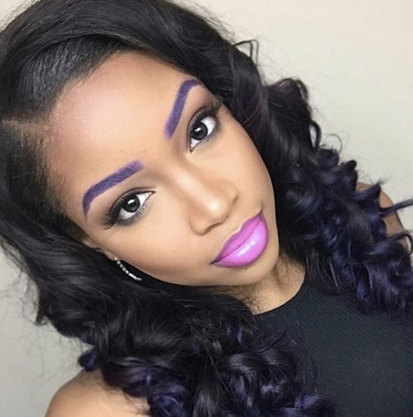 3 Ways to Wear Instagram's Latest Beauty Trend: Colorful Dyed Eyebrows