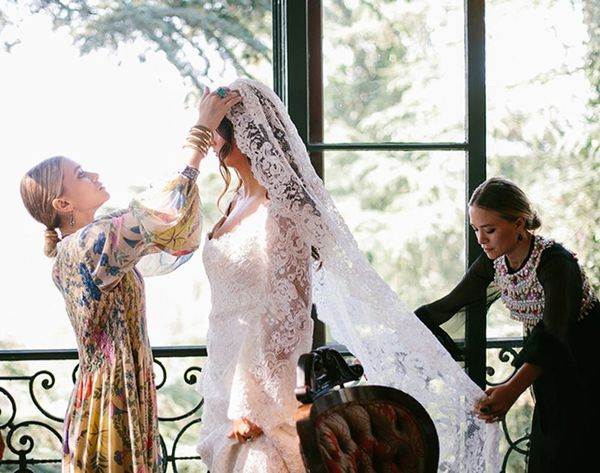 The Olsen Twins Just Designed a Wedding Dress for Their Lucky BFF Bride