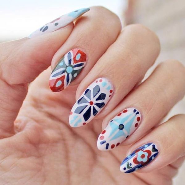 Pretty Polished: How to DIY the Tiled Nail Art Trend We Can't Stop Obsessing Over