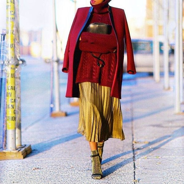 These 7 Bloggers Know the Secret to Rocking a Skirt During the Winter