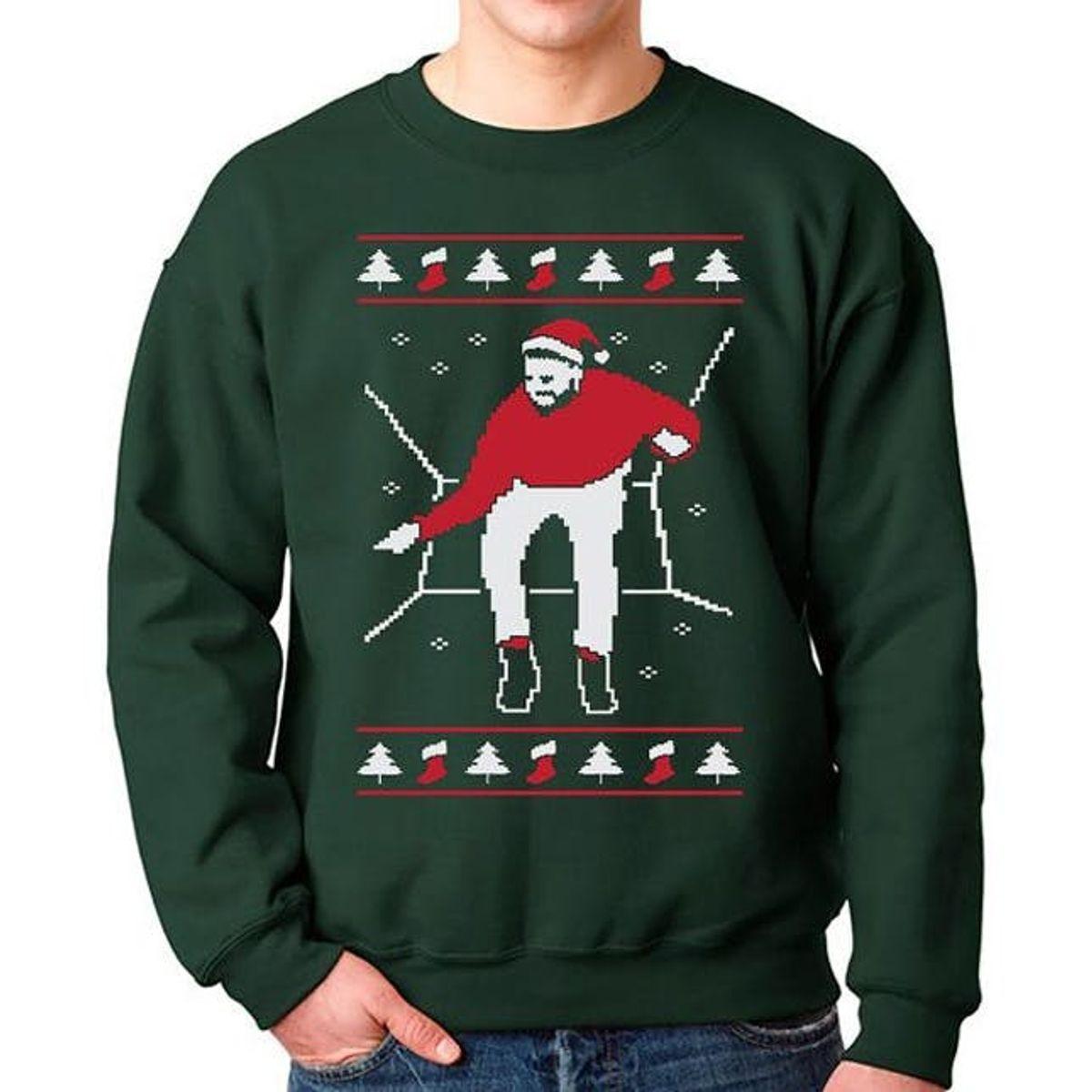 Happy Holla Days Funny Christmas Sweatshirt  Ugly Christmas Sweater Oversized 34 Sleeve Sweatshirt Holiday Sweatshirt Funny Christmas Shirt