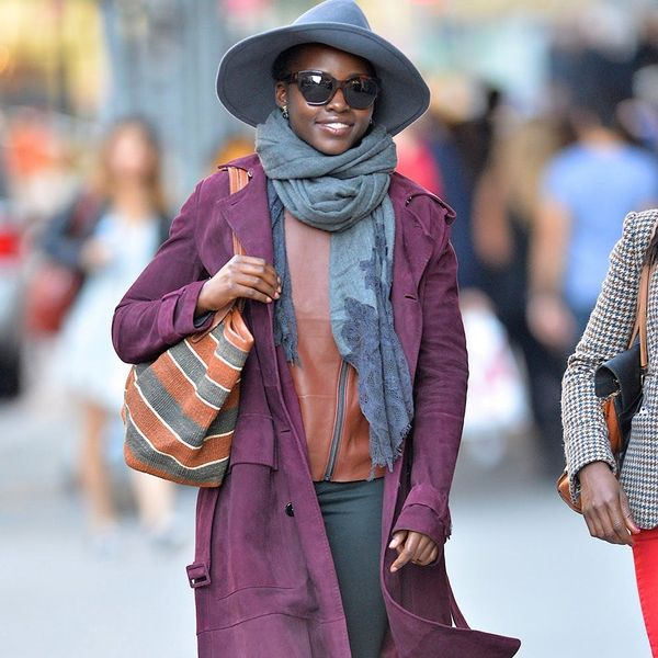 Lupita Nyong'o Just Showed Us the Most Stylish Trick for Layering in Cold Weather