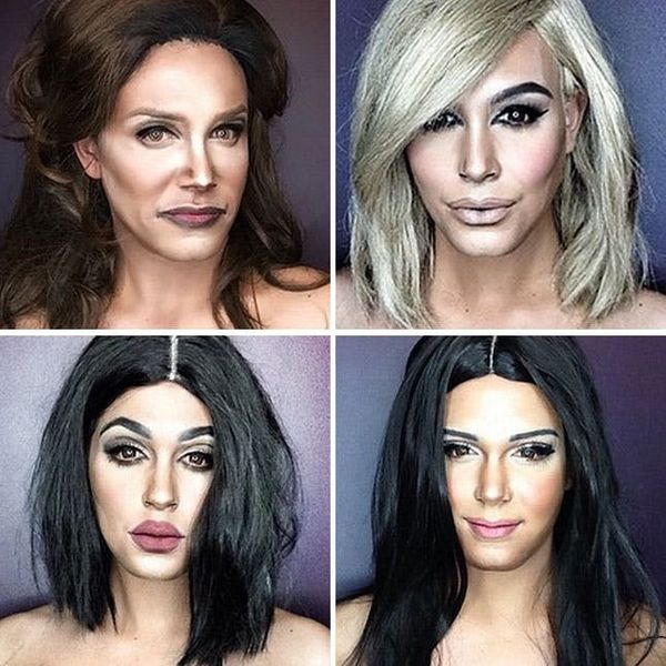 See One Guy Transform Himself into Every Kardashian With Makeup