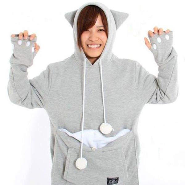 This New Hoodie Lets You Carry Your Cat Wherever You Go