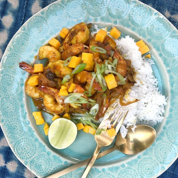 Try This Kid-Friendly Mango Curry Shrimp Recipe That Adults Will Love Too