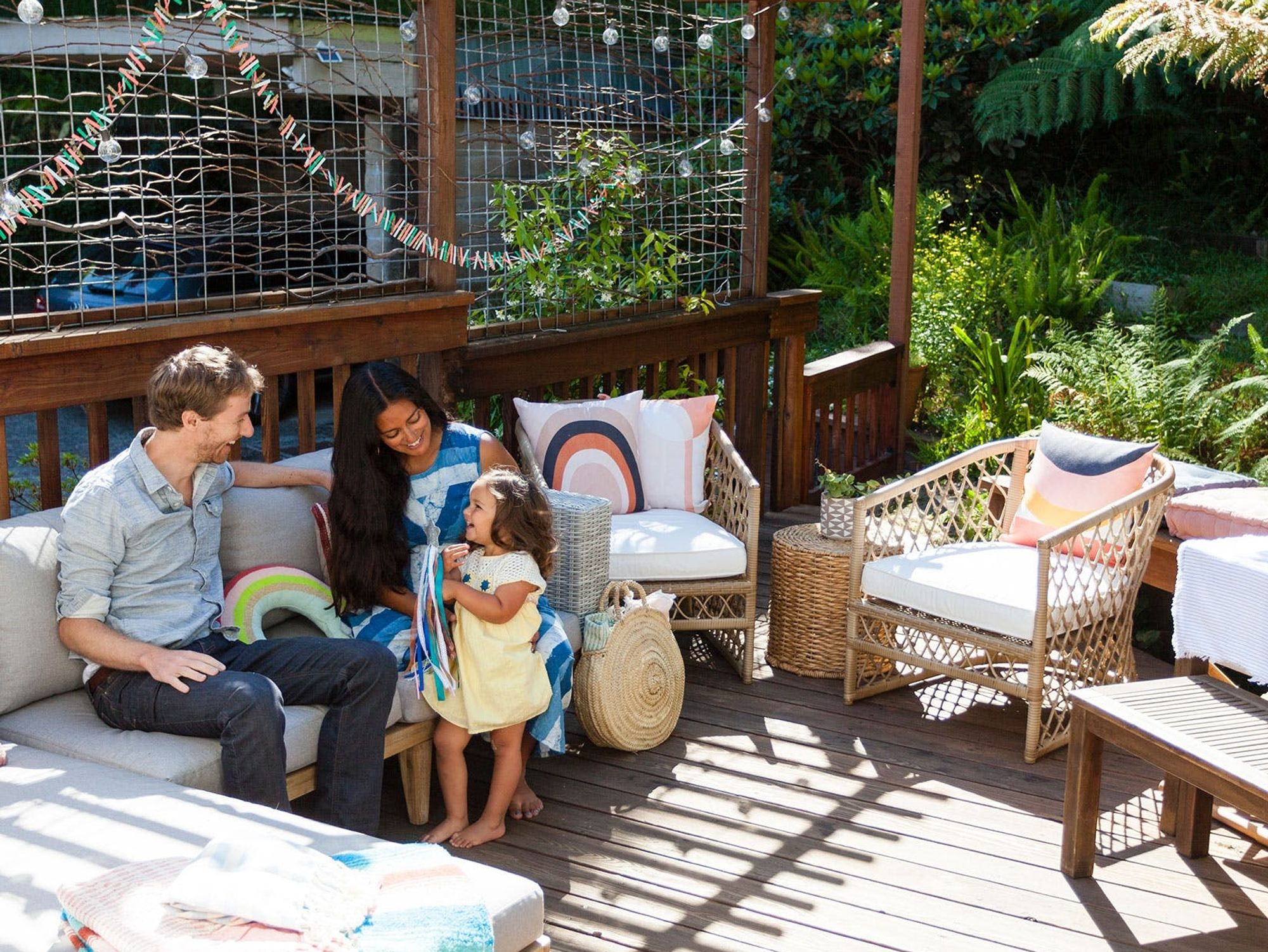 This Picturesque Back Patio Gets a Makeover to Become a Cozy Outdoor Living Room